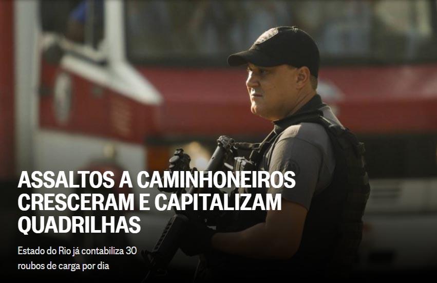 Reportagem e imagem Jornal O Globo