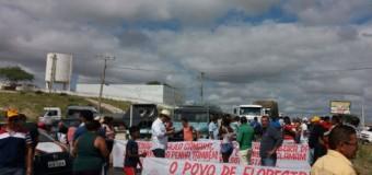 Protestos simultâneos fecham rodovias para exigir pavimentação da PE-425