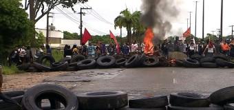 Em Sergipe rodovias são interditadas por manifestantes, transporte público foi suspenso na capital