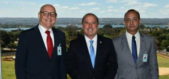 Ministro da Casa Civil, Onyx Lorenzoni, recebe Afrânio Kieling e Vander Costa em Brasília